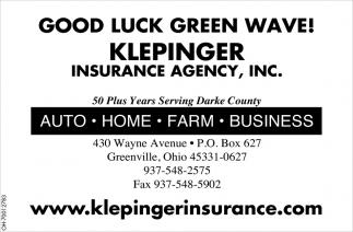 Good Luck Green Wave!