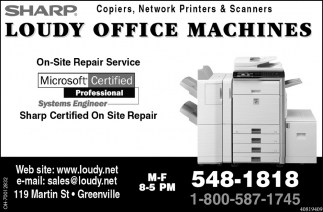Copiers, Network Printers & Scanners