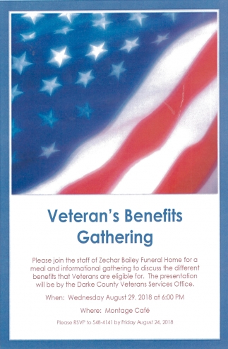 Veteran's Benefits Gathering