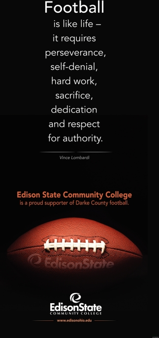 Supporter of Darke County football