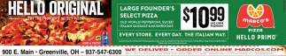Coupon Large Founder's Select Pizza