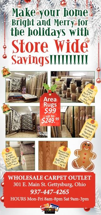 Store Wide Savings!