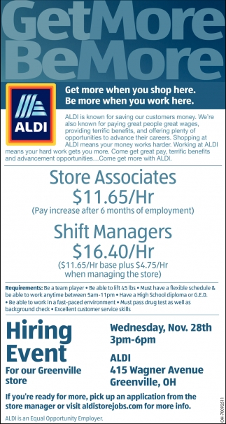 Store Associates, Shift Managers