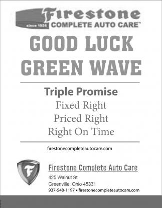 Good Luck Green Wave