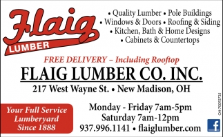 Your Full Service Lumberyard Since 1888