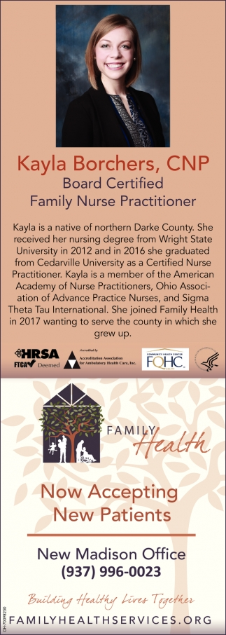 Kayla Borchers, CNP Board Certified Family Nurse Practitioner