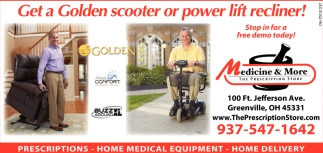 Get a Golden scooter or power lift recliner!