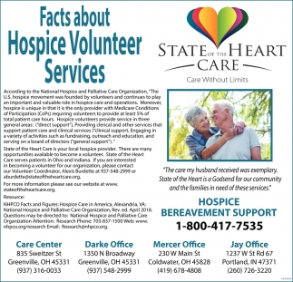 Facts about Hospice Volunteer Services