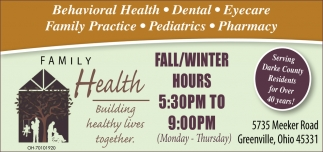 Behavioral Health, Dental, Eyecare