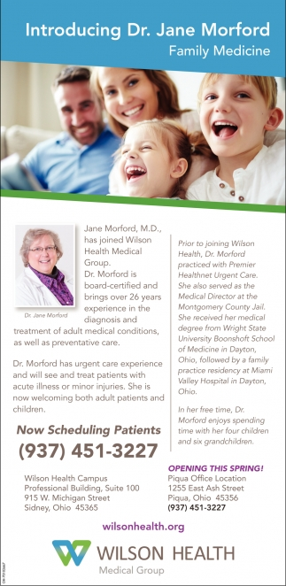 Dr. Jane Morford, Family Medicine