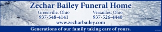 Funeral and memorial service, Zechar Bailey Funeral Home