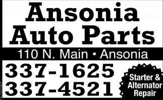 Starter & Alternator Repair, Ansonia Auto Parts, Ansonia, OH