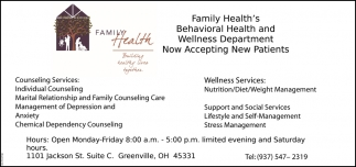 Behavioral Health and Wellness Department