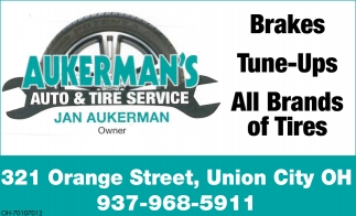 Brakes, Tune-Ups, All Brands of Tires