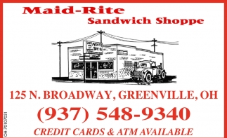 Credit Cars & ATM Available