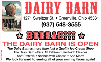 The Dairy Barn is Open!