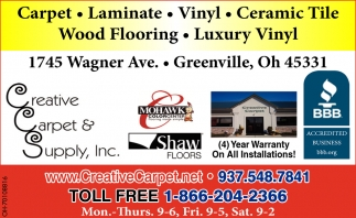 Carpet, Laminate, Vinyl, Ceramic Tile, Wood Flooring
