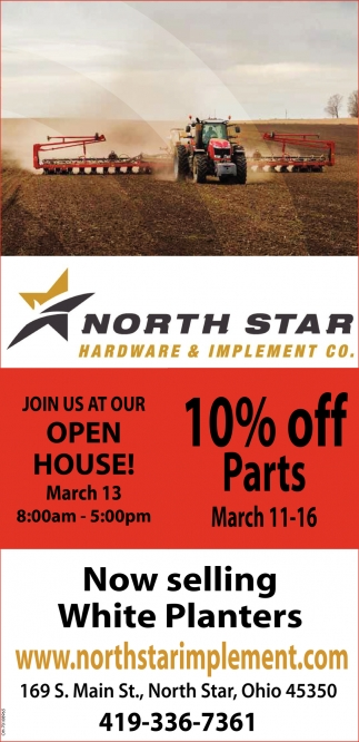 Open House 10% off parts