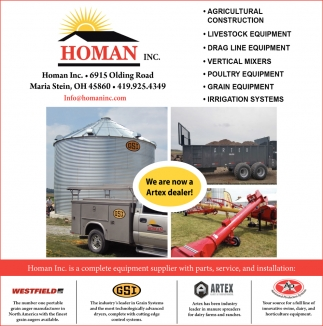 Complete equipment supplier with parts, service, and installations