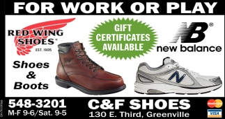 179403ff670 For work or play, C&F Shoes, Greenville, OH