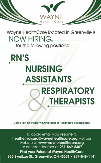 Now Hiring in Greenville