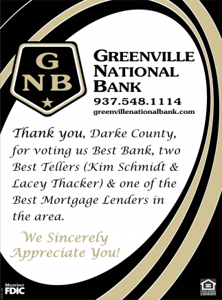 Thank You, Darke County, for voting us Best Bank