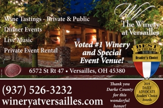 Voted # 1 Winery and Special Event Venue!