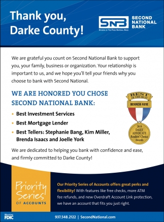 Thank you Darke County