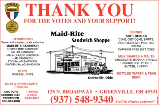 thank You For The Votes and Your Support!