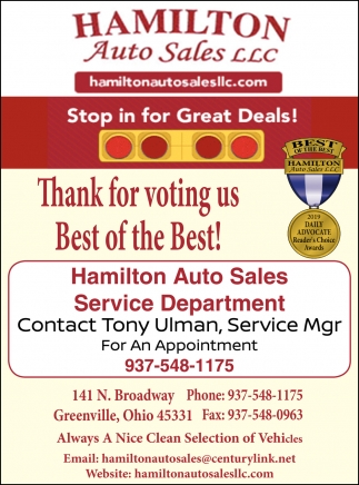 Thank you for voting us Best of the Best!