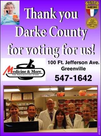 Thank you Darke County for voting for us!