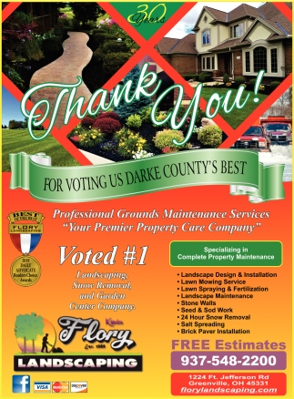 Thank You for Voting Us Darke County's Best