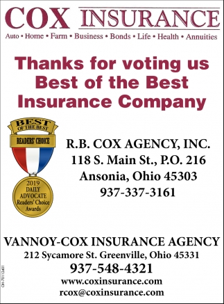 Thanks for voting us Best of the Best Insurance Company
