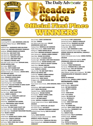 Reader's Choice  Official First Place Winners