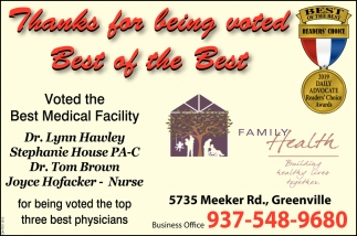 Voted the Best Medical Facility