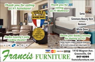 Thank you for voting us #1 Furniture