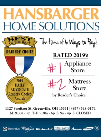 Rated 2019's #1 appliace Store - #2 Mattress Store