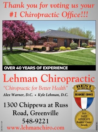 Thank you for voting us your #1 Chiropractic Office!