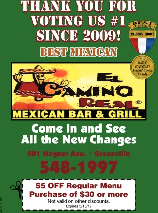 thank you for voting US #1 since 2009 - Best Mexican
