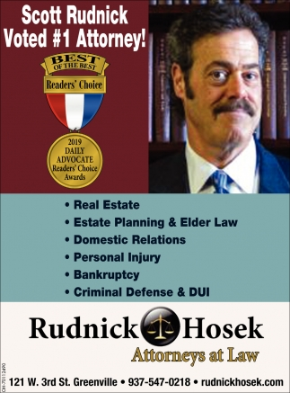 Scott Rudnick Voted #1 Attorney!