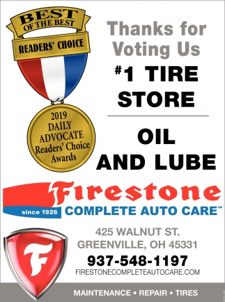 Thanks For Voting Us 1 Tire Store Firestone Complete Auto Care
