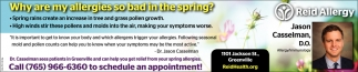 Why are my allergies so bad in the spring?