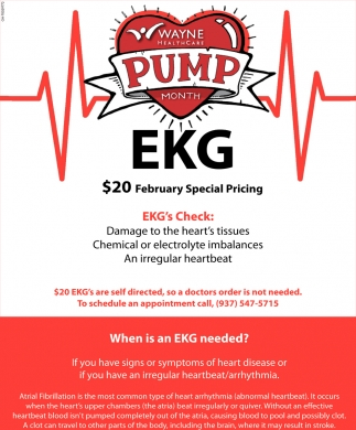 EKG's Check $20 February Special Pricing