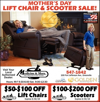 Mother's Day Lift Chair & Scooter Sale!