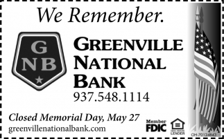 We Remember - Closed Memorial Day, May 27