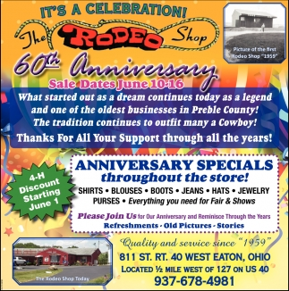 60th Anniversary Sale Dates Jun 10 - 16