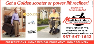 Get a Golden scooter or power lift recliner