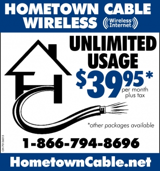 Unlimited Usage $39.95* - per month plus tax