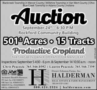 Auction September 24th