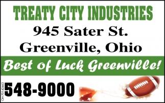 Best of Luck Greenville!